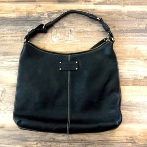 Kate Spade Black Leather Hobo Bag